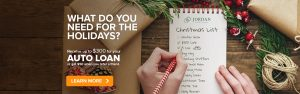 What do you need for the holidays? Receive up to $300 for your auto loan - Or $50 when you refer a friend.