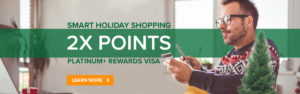 Smart holiday shopping, 2X points, learn more
