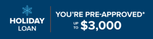 Holiday loan - You're pre approved up to $3K
